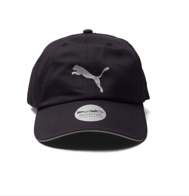 PUMA Бейсболка UNISEX RUNNING CAP III, black, grey. Фото N2