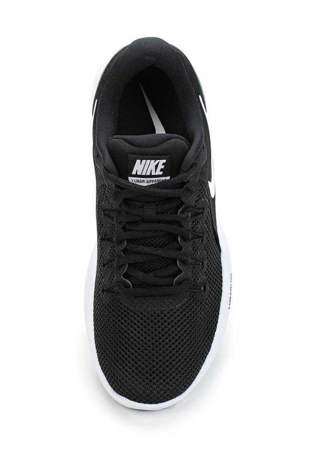 NIKE Кроссовки женские Lunar Apparent, black, white. Фото N4