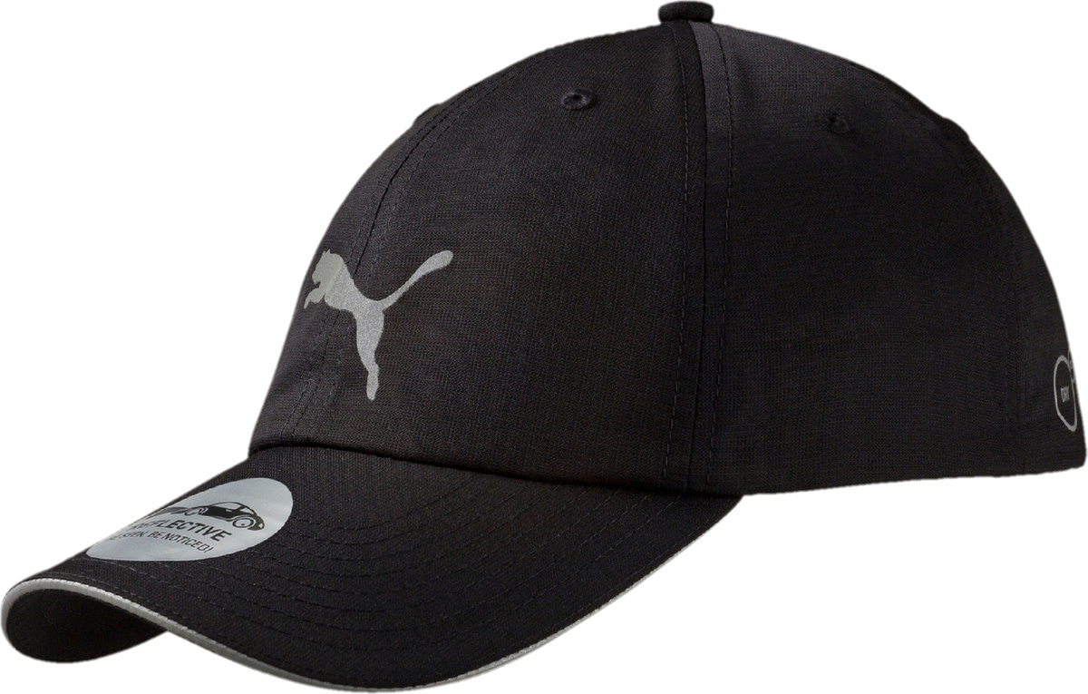 PUMA Бейсболка UNISEX RUNNING CAP III, black, grey