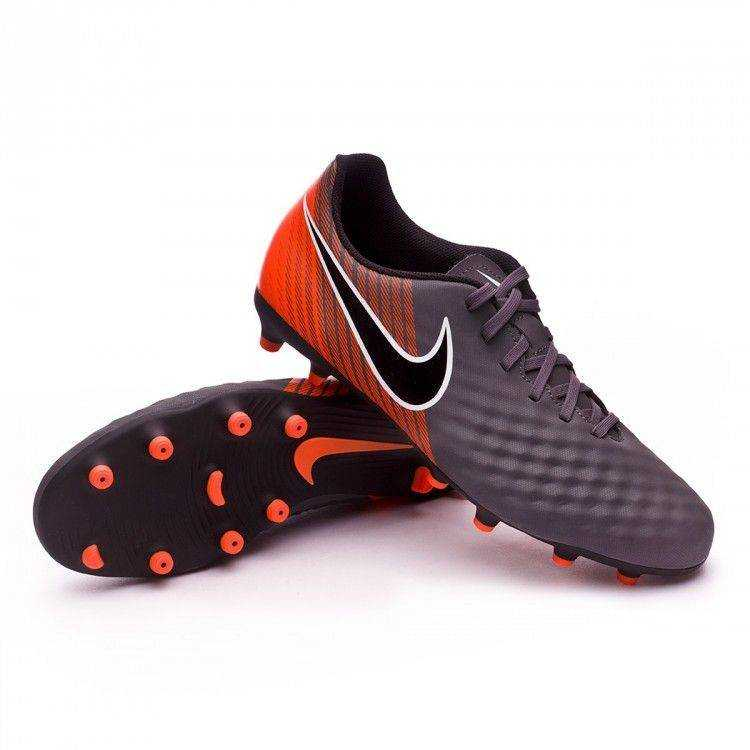 NIKE Бутсы Magista Obra II Club FG SR, grey, orange. Фото N2