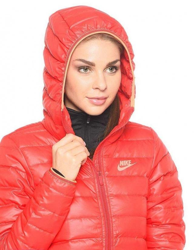 NIKE Куртка женская W NSW DWN FLL JKT HD, red. Фото N4