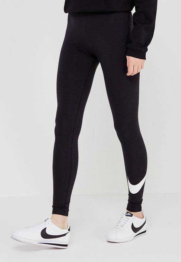 NIKE Брюки женские Sportwear Club Legging Logo 2 W, black. Фото N2