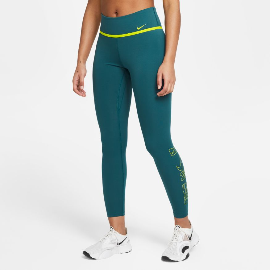 NIKE Брюки женские ONE ICON CLASH, green