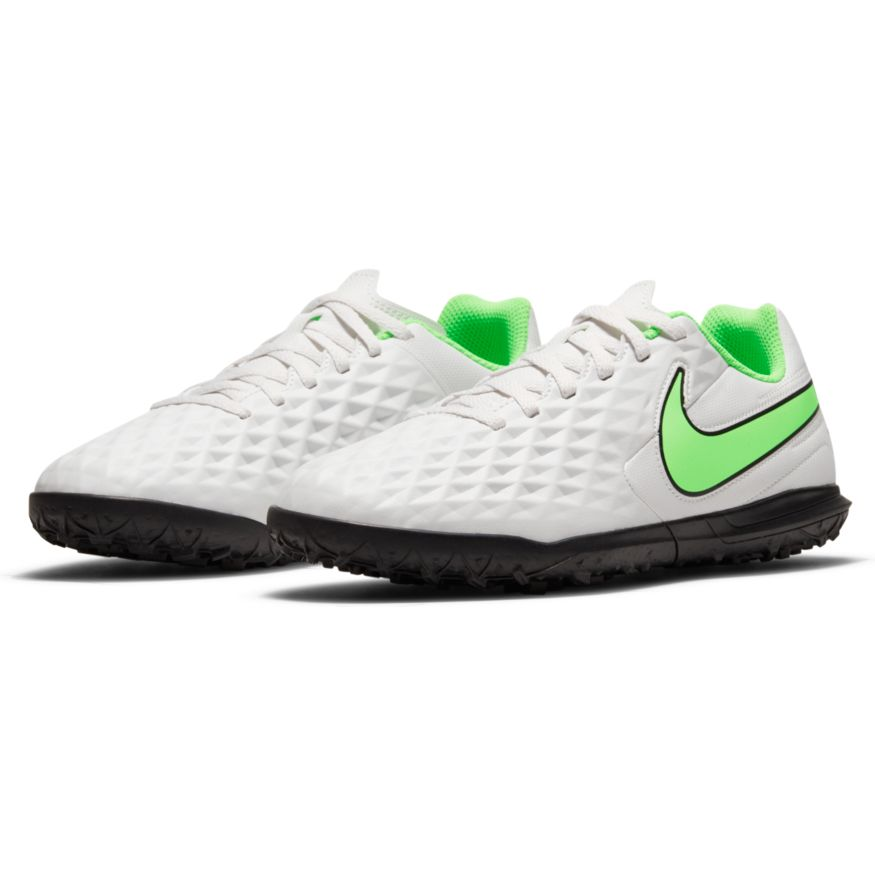 NIKE Бутсы подростковые JR TIEMPO LEGEND 8 CLUB TF, white, green, black