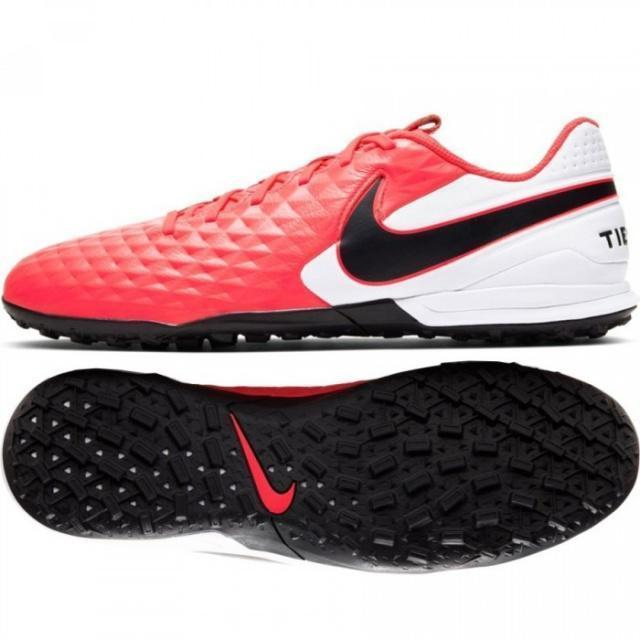 NIKE Бутсы мужские TIEMPO LEGEND 8 ACADEMY IC, red, white, black. Фото N2