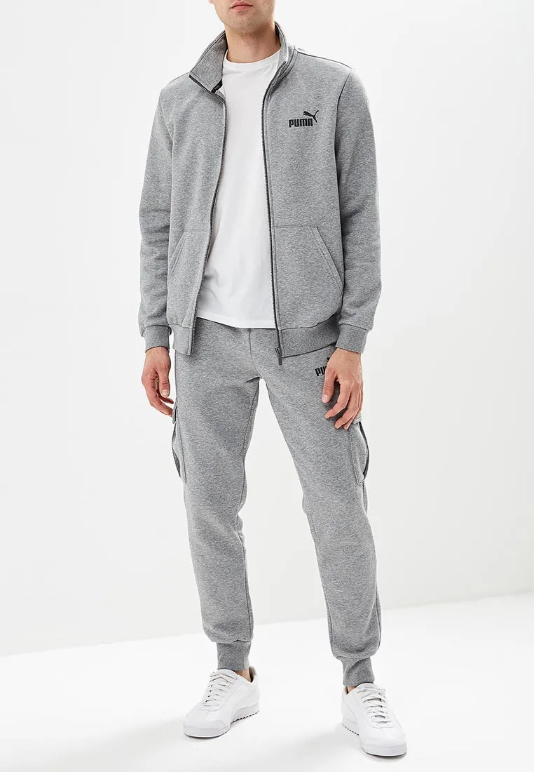 PUMA Жакет мужской ESS TRACK JACKET FL, grey. Фото N2