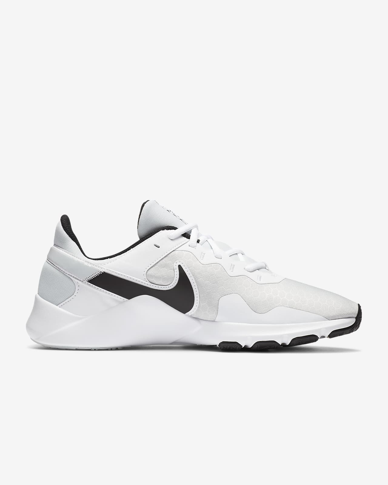 NIKE Кроссовки мужские LEGEND ESSENTIAL 2, white, black. Фото N3