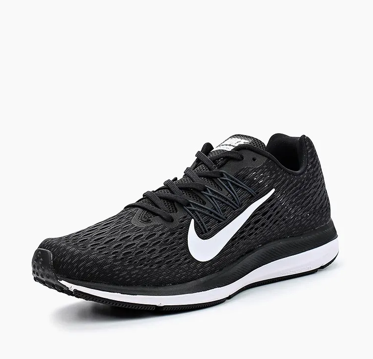 NIKE Кроссовки мужские Air Zoom Winflo 5, black, white AA7406-001
