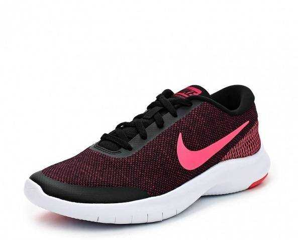 NIKE Кроссовки женские Women's Flex Experience RN 7 Running Shoe, black, pink