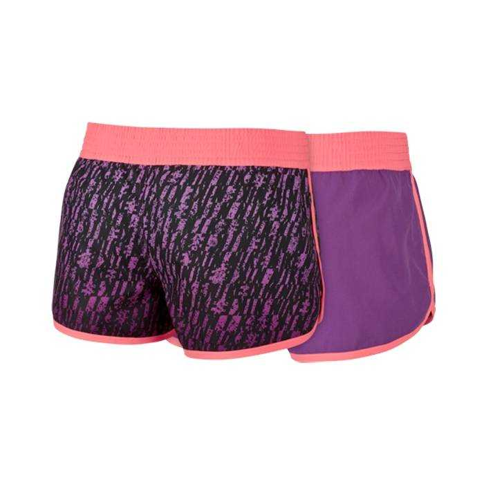 NIKE Шорты женские Next Up Reversible Dip-Dyed Shorts, black, violet. Фото N2