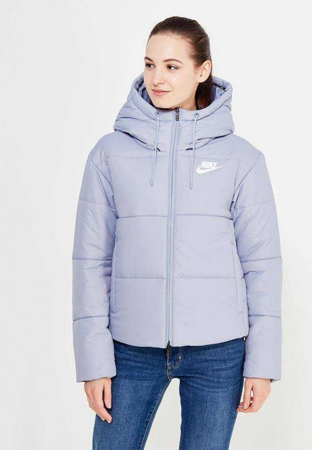 NIKE Куртка женская Sportswear Advance 15, light blue. Фото N4