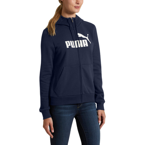 PUMA Жакет женский ESS LOGO HOODED JACKET FL PEACOAT, dark blue