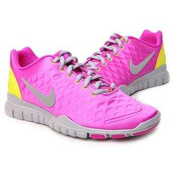 NIKE Кроссовки женские WMNS FREE TR FI, pink, yellow. Фото N3