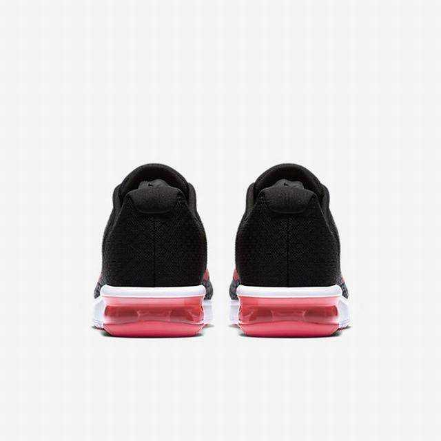 NIKE Кроссовки женские WMNS NIKE AIR MAX SEQUENT 2, black, white, pink. Фото N2