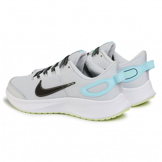 NIKE Кроссовки женские W RUNALLDAY 2, grey, black, blue. Фото N2