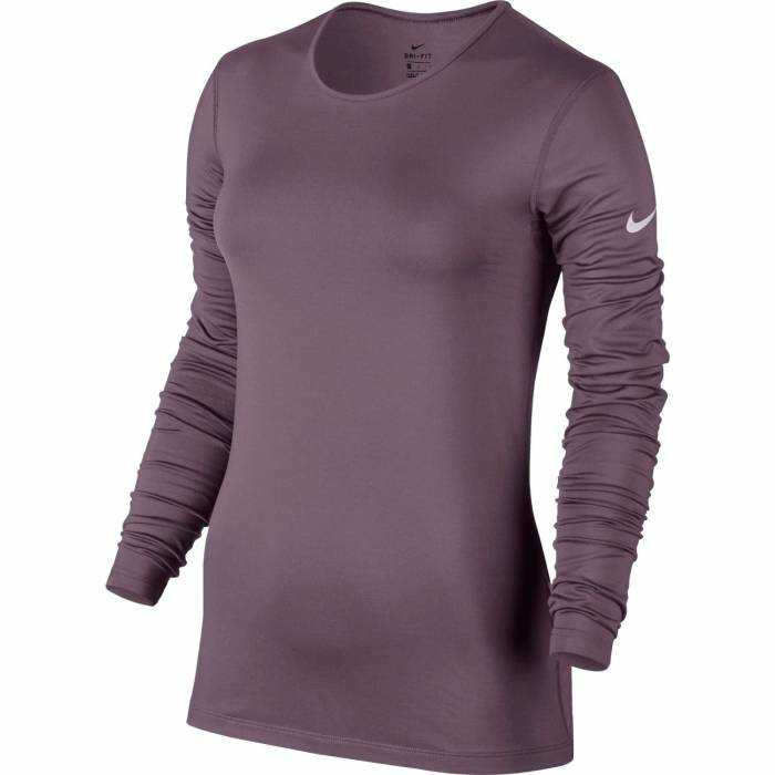 NIKE Футболка женская PRO WMNS WARM LONG SLEEVE TOP, purple