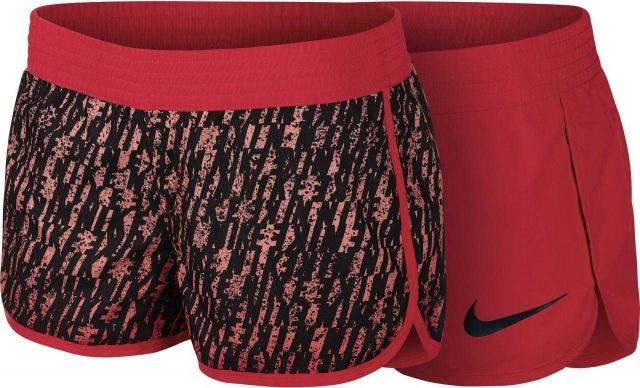 NIKE Шорты женские Next Up Reversible Dip-Dyed Shorts, black, red