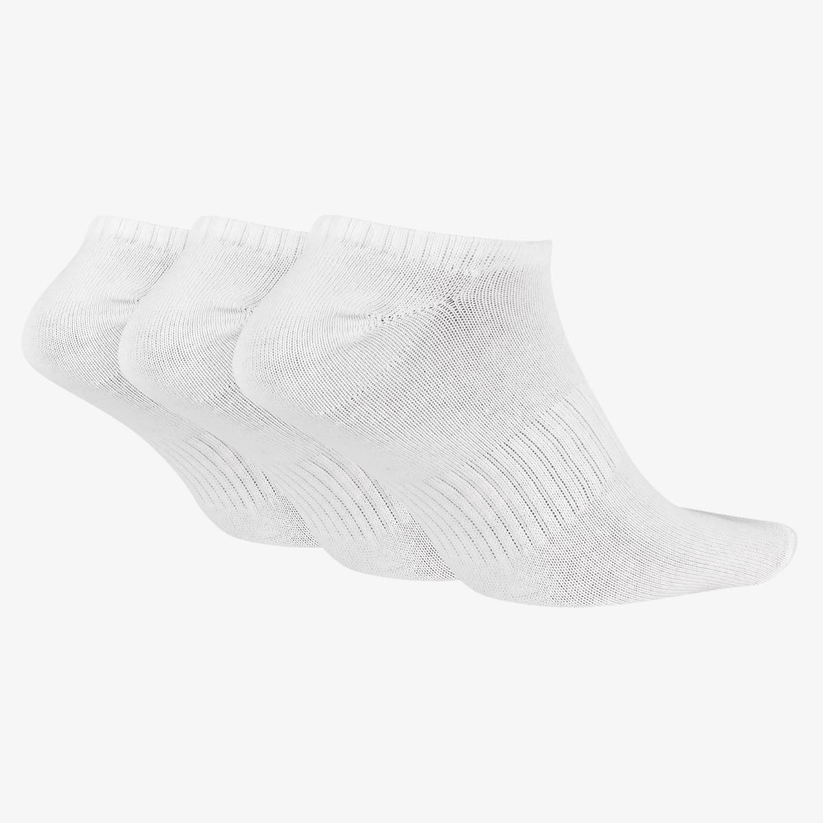 NIKE Носки EVERYDAY LIGHTWEIGHT NO-SHOW, 3 пары, white. Фото N2