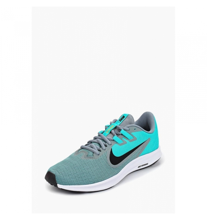 NIKE Кроссовки женские DOWNSHIFTER 9, turquoise, grey, black. Фото N2