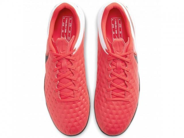 NIKE Бутсы мужские TIEMPO LEGEND 8 ACADEMY IC, red, white, black. Фото N4