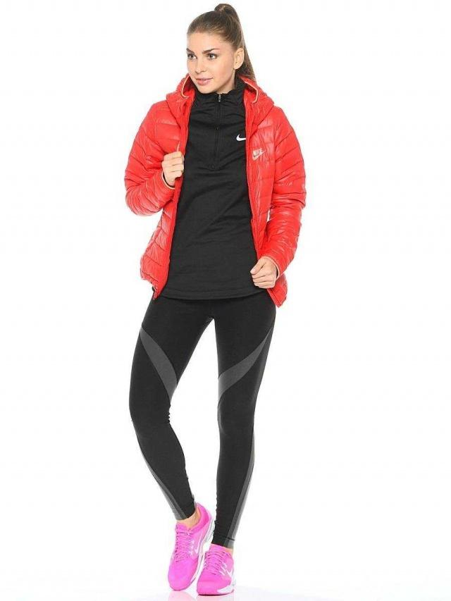 NIKE Куртка женская W NSW DWN FLL JKT HD, red. Фото N2