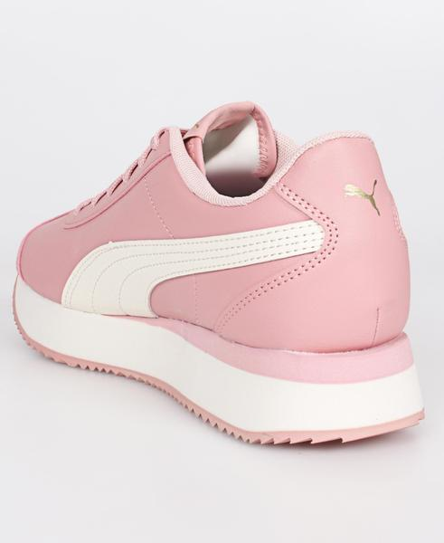 PUMA Кроссовки женские TURINO STACKED Black-Ros, white, pink. Фото N2