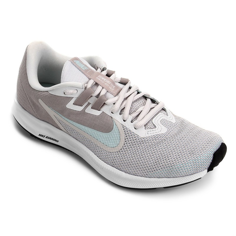 NIKE Кроссовки женские DOWNSHIFTER 9, grey, white. Фото N3