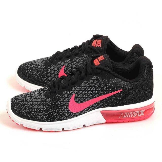 NIKE Кроссовки женские WMNS NIKE AIR MAX SEQUENT 2, black, white, pink