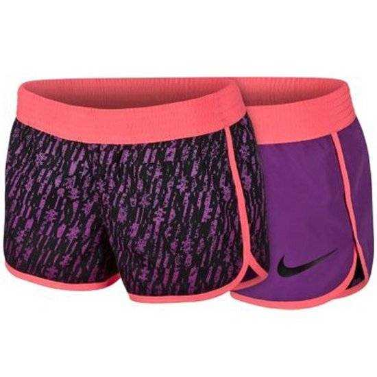 NIKE Шорты женские Next Up Reversible Dip-Dyed Shorts, black, violet