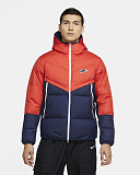 NIKE Пуховик мужской SPORTSWEAR DOWN-FILL WINDRUNNER, dark blue, orange