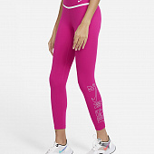 NIKE Брюки женские ONE ICON CLASH, pink, white
