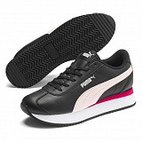 PUMA Кроссовки женские TURINO STACKED Black-Ros, black, white, pink