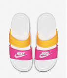NIKE Сланцы NIKE WMNS BENASSI DUO ULTRA SLIDE, pink, yellow, white