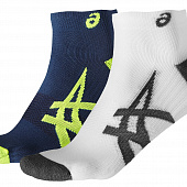 ASICS Носки 2PPK Lightweight Sock, dark blue, green, white, grey