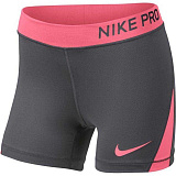 NIKE Шорты детские Pro Short Girls, gray