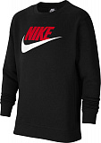 NIKE Жакет детский BOYS SPORTSWEAR CLUB FLEECE, black, red, white