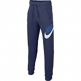 NIKE Брюки детские SPORTSWEAR CLUB FLEECE, dark blue, white, blue