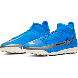NIKE Бутсы мужские PHANTOM GT CLUB DF TF, blue, grey
