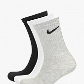 NIKE Носки Everyday Lightweight Crew SX7676-901, grey, white, black