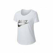 NIKE Футболка детская GIRLS NSW TEE SCOOP DANCE SWOOSH, white