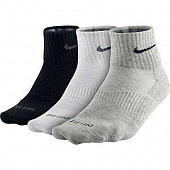 NIKE Носки 1PPK DF NON CUSHIO SX4847-901 MENS GYM SOCKS, 4 пары, black, white, grey