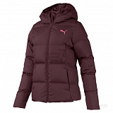 PUMA Пуховик женский ESSENTIALS 400 DOWN HOODED JACKET, maroon