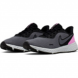 NIKE Кроссовки женские WMNS REVOLUTION 5, grey, black, pink