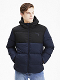PUMA Пуховик мужской ESS+DOWN JACKET PEACOAT-L, black, dark blue